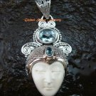 Sterling Silver Bali Goddess Pendant w/Gem GDP-1128-PS