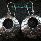 Sterling Silver Round Fancy Earrings SE-187-KT