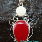 Sterling Silver Coral Goddess Pendant GDP-1134-NY