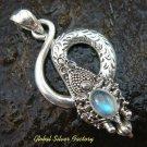 Silver Labradorite Snake Pendant SP-490-NY