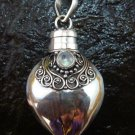 Sterling Silver Ornate Cremation, Keepsake, Perfume Pendant PP-397-KT
