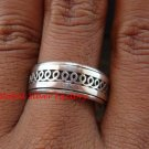 Sterling Silver Men, Women, Unisex Band Ring/ Spinner Ring SR-146-KT