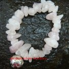 925 Silver Dream Ball & Genuine Rose Quartz Bead Stretch Bracelet CH-336-GSF