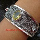 Fantastic Sterling Silver Bali Garnet and Citrine Bangle SBB-381-PS