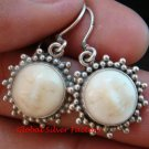 Sterling Silver Sun Moon Face  Ox Bone Earrings GDE-1156-NY