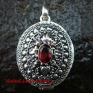 925 Silver Garnet Keepsake Locket Pendant LP-197-IKP