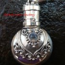 Sterling Silver Ornate Cremation /Perfume Pendant Rainbow Moonstone PP-389-KT
