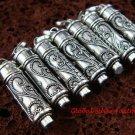 7x Wholesale 925 Silver Keepsake Cremation Pendants w/Gem SSB-334-GSF