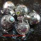 5x Wholesale  Bundle 925 Silver Bali Cremation - Various Stones SSB-349-GSF
