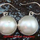 Large & Bold Mabe Pearl in 925 Sterling Silver Eerrings ER-648-KT