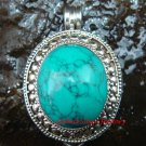 925 Silver Large Turquoise Locket/Keepsake Pendant LP-208-KA