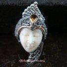 Sterling Silver Citrine Goddess Cocktail Ring GDR-1103-PS