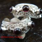 Gorgeous 925 Silver Bali Design Garnet Earrings ER-595-NY