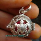 16mm 925 Silver Turtle Harmony Ball Pendant HB-341-KT