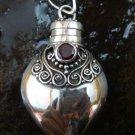 Sterling Silver Ornate Cremation, Keepsake, Perfume Pendant PP-401-KT