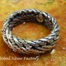 Sterling Silver Unisex Ring SR-203 Size U 1/2