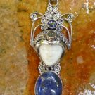 Silver and Lapis Lazuli Goddess Pendant GDP-1256-PS