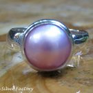 Silver and Pink Mabes Pearl Ring RI-637-KT
