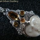 Sterling Silver and Citrine Goddess Pendant GDP-1205-NY