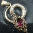 Silver and Garnet Snake Pendant SP-758-KT