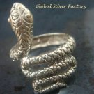 Sterling Silver Coiled Snake Ring SR-191-KT