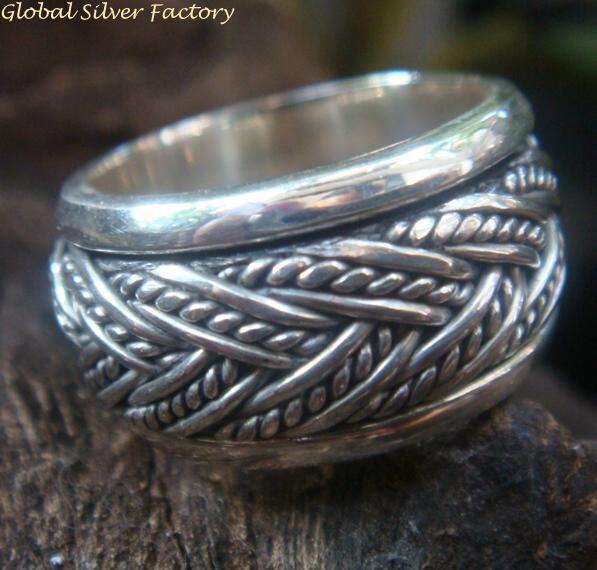 Sterling Silver Platted Design Ring SR-192-KT