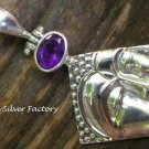 Sterling Silver and Amethyst Kwan Yin Pendant SP-760-KT