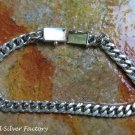 8.5 Inch Hand Made 925 Silver Curb Chain Unisex Bracelet SBB-442-KT