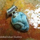 Sterling Silver and Blue Druzy Pendant SP-794-KA