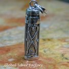 Silver Heart Design Perfume Cremation Pendant PP-478-KT