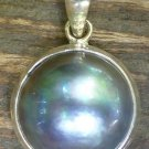 Sterling Silver and Mabes Pearl Pendant SP-762-KT