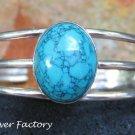 Gorgeous Sterling Silver & Turquoise Bangle SBB-452-KA
