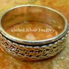 Sterling Silver Unisex Spinner Ring SR-208-KA