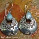 Sterling Silver and Larimar Earrings ER-787-NY