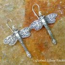 Sterling Silver Dragonfly Earrings SE-254-KT