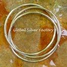 Sterling Silver Three Interlocking Bangle, Fancy Style, Latest Fashion Bangle SBB-427-KA