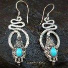 Sterling Silver Turquoise Snake Earrings ER-568-NY