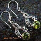 Sterling Silver Peridot Earrings ER-584-PS