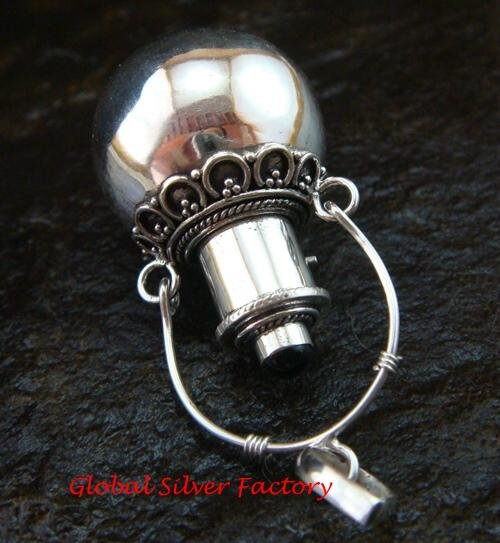 Large 925 Silver Black Onyx Cremation Pendant PP-363-KT