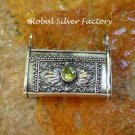 Silver and Peridot Prayer Box Locket Pendant LP-236-KA