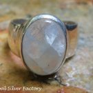 Sterling Silver and Rainbow Moonstone Ring RI-616-KT