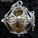 Silver Cage Harmony Chime Ball Pendant HB-310-KT