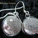 925 Silver & Ying Yang Chime Ball Earrings CBE-138-KT