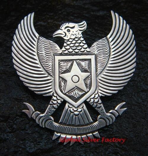 Sterling Silver Garuda Pancasila Pin Brooch BC-104-KA