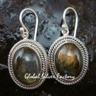 Labradorite Earrings w Braided Sterling Silver Design ER-665-KT