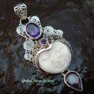 Silver & Amethyst Goddess Pendant GDP-1053-PS