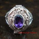 925 Silver Amethyst Poison Ring LR-605-KT