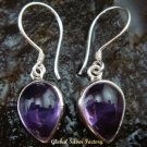 Sterling Silver Pear Amethyst Cabochon Earrings ER-581-KT
