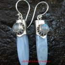 Sterling Silver Chalcedony Dangle Earring w/Gem ER-626-KT