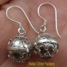 Sterling Silver Bali Chime Ball Earrings 12mm CBE-135-KA